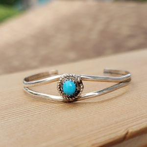 Baby Child Turquoise Sterling Silver Bracelet